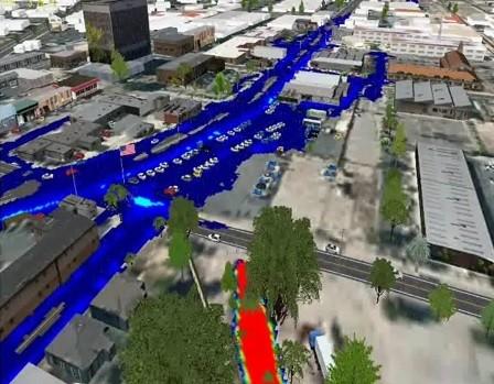flood simulation model